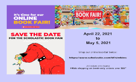 Save the date. It's time for our online book fair. April 22, 2021  to  May 5, 2021