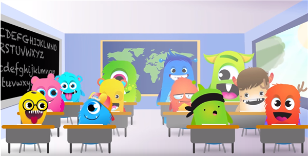 class dojo monsters in desks