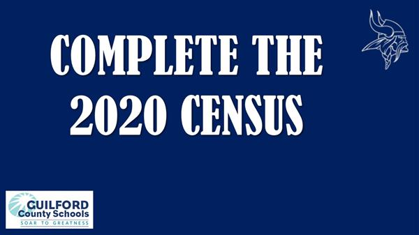 Complete the 2020 Census, logo of viking head
