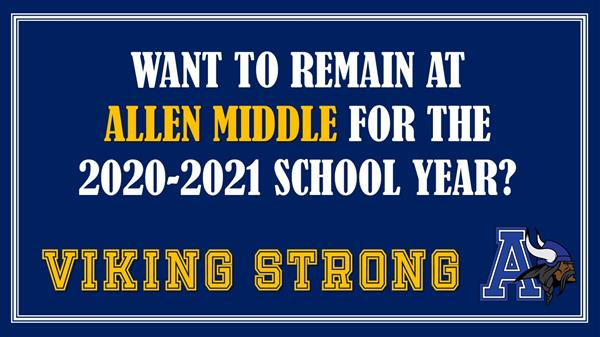 Viking head with letter A, do you want to remain at allen middle school
