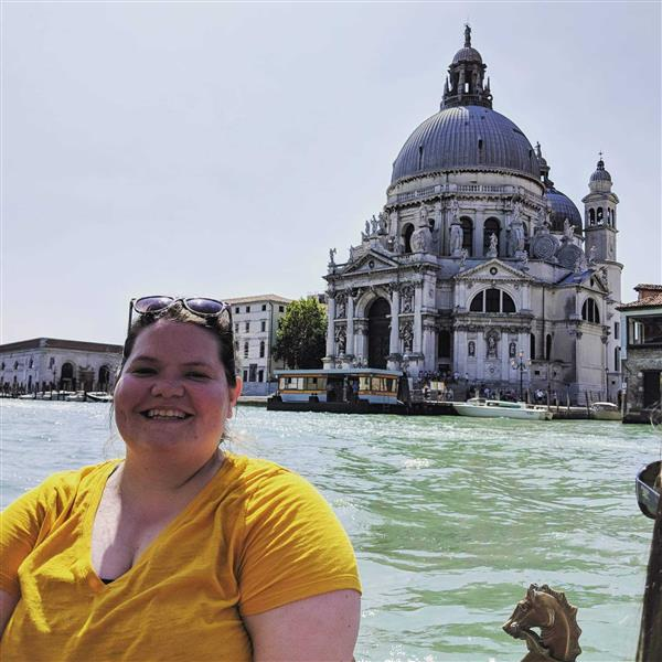 A picture of Ms. Peele in Venice