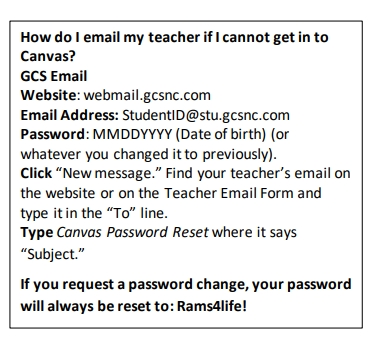 How to email teachers if you can't get into Canvas