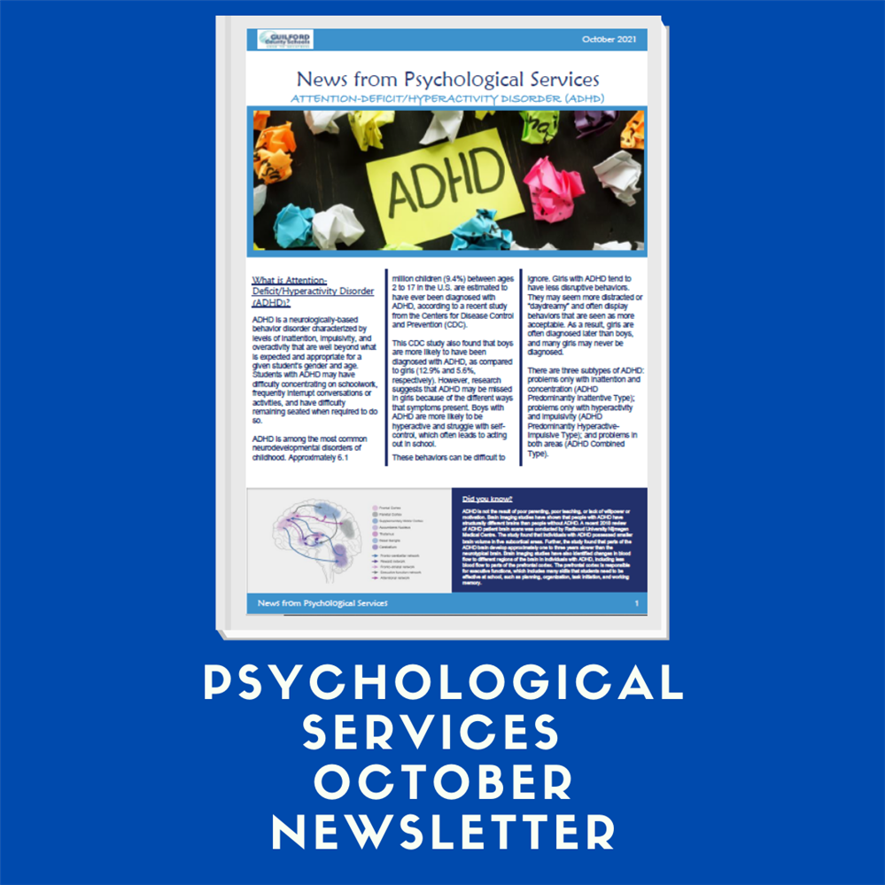 Psychological Services October Newsletter: The Importance of Positive Relationships