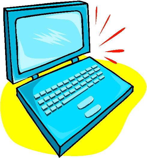 clipart photo of a laptop