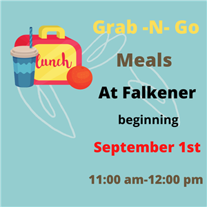 Grab n Go Meals at Falkener beginning September 1st 11:00am to 12;00pm with lunchbox, drink and fruit image