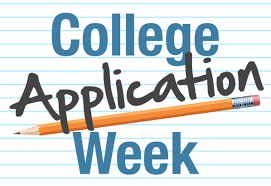 free college application week sign
