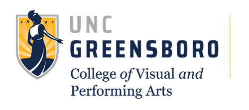UNCG College of Visual and Performing Arts logo