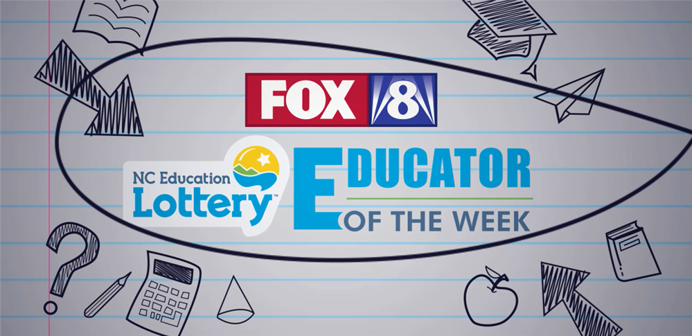 school supplies around the words Educator of the Week