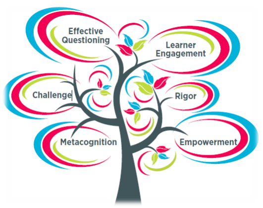 Academically Gifted tree, effective questioning, learner engagement, rigor, empowerment, metacognition, challenge,