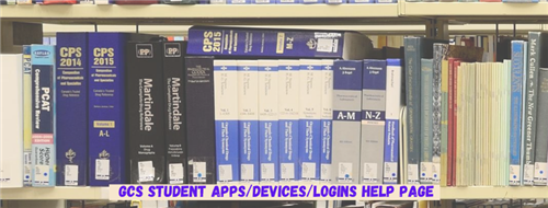 gcs student apps devices logins help page